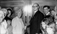 Opening the new church<br>Mrs Hettle Harding 1975